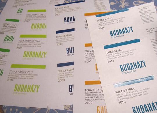 Budahazy - etykiety